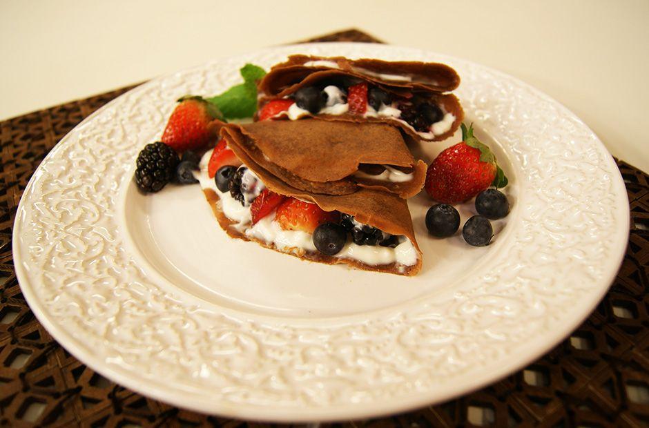 Crepe de Chocolate com Frutas