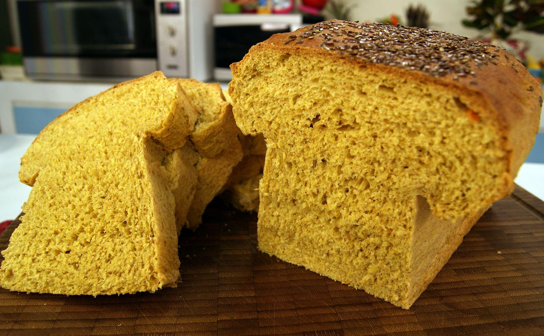 Pão Integral de Iogurte, Cenoura e Laranja