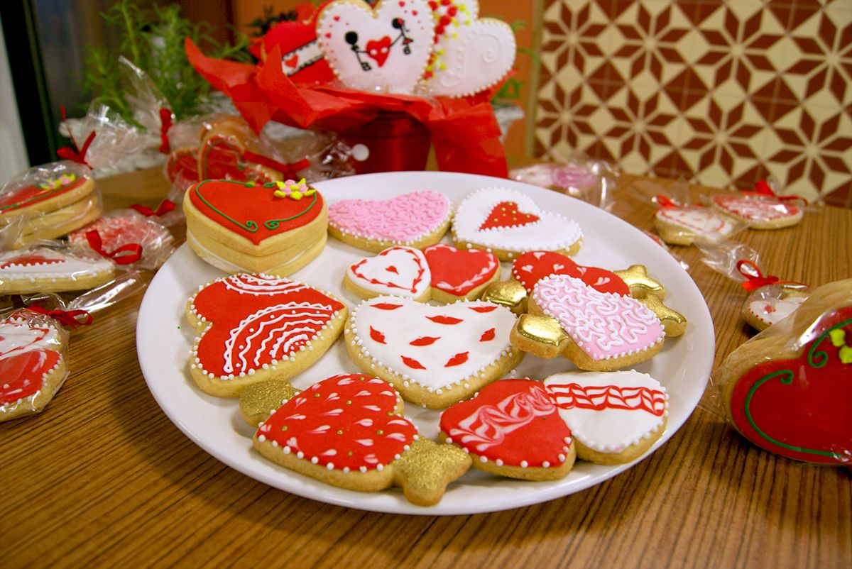 Cookies Decorados para o Dia dos Namorados