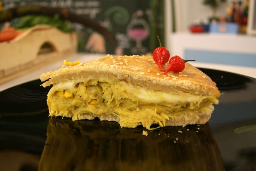 Torta de Frango e Curry