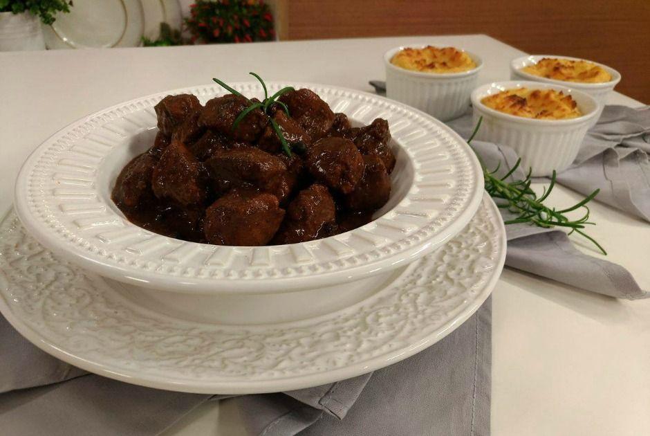 Carne de Porco com Tortinha de Batata