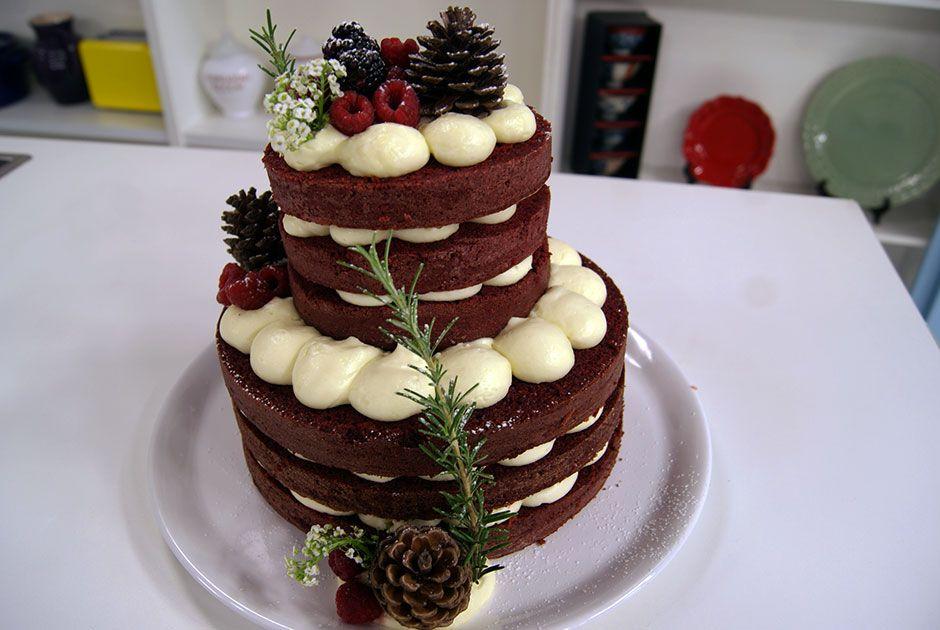 Bolo Naked Cake Natalino