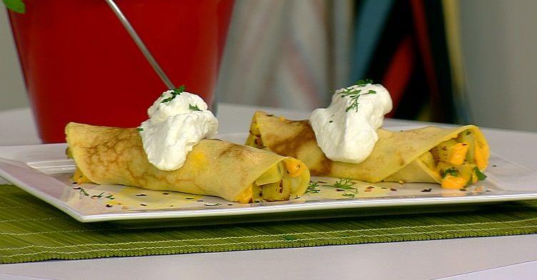 Panqueca de Batata Doce com Pimenta e Limão