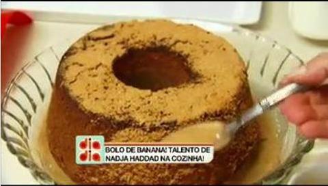 Bolo de Banana da Nadja Haddad