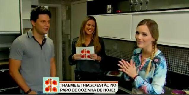 Marina Mantega fala com Thaeme e Thiago no Papo de Cozinha