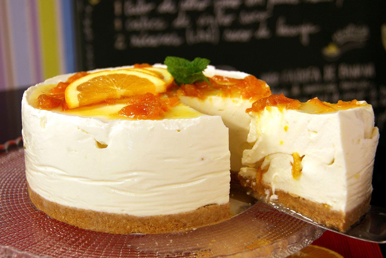 Cheesecake de Iogurte e Laranja