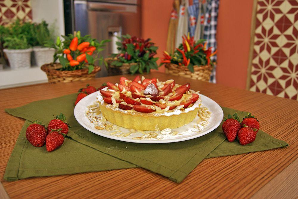 Torta de Morango e Amêndoas