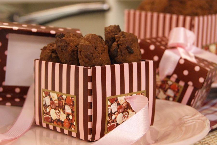 Cookies Nutritivos de Chocolate e Aveia
