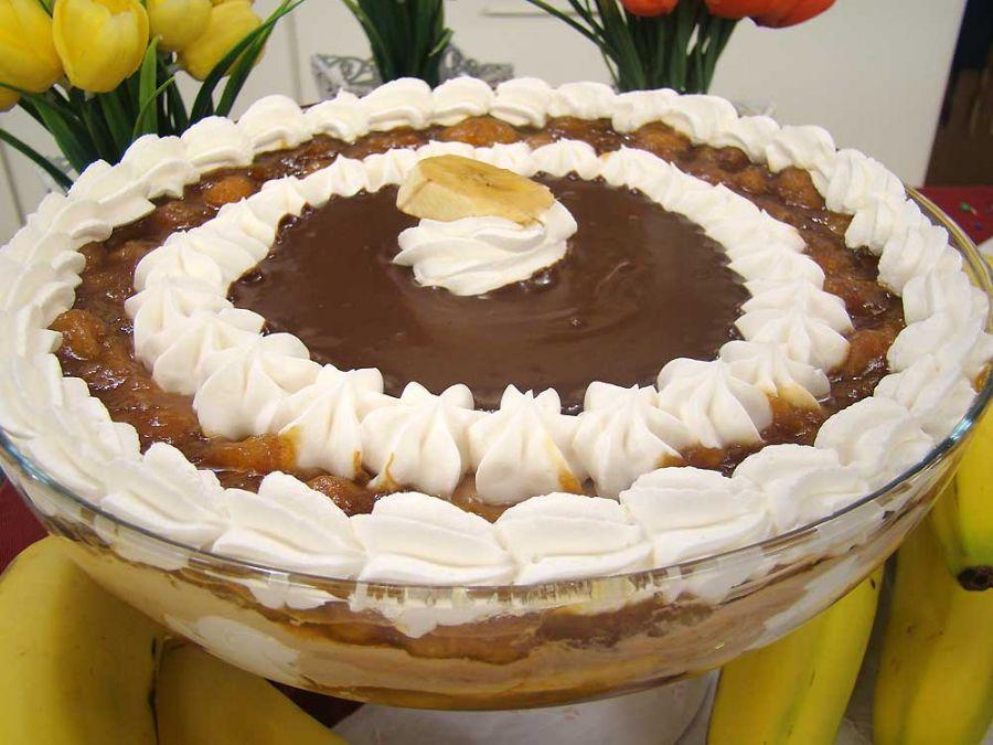 Mousse de Banana com Calda de Capuccino - Festival de Liquidificador 18