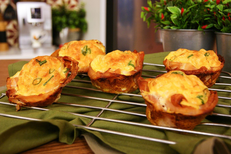 Cestinha de Presunto e Omelete