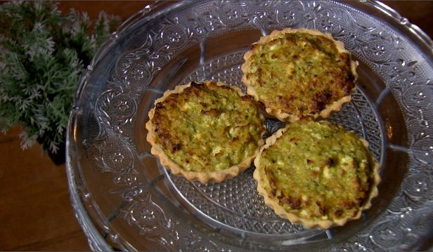 Quiche de Creme de Brócolis com Bacalhau