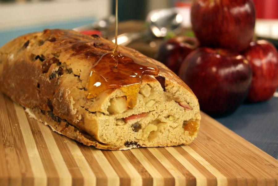 Pão de Aveia, Maçã e Mel