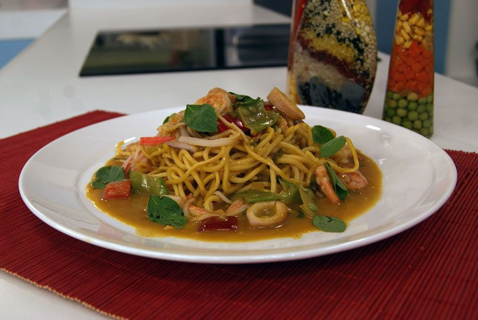 Yakisoba Thai de Frutos do Mar