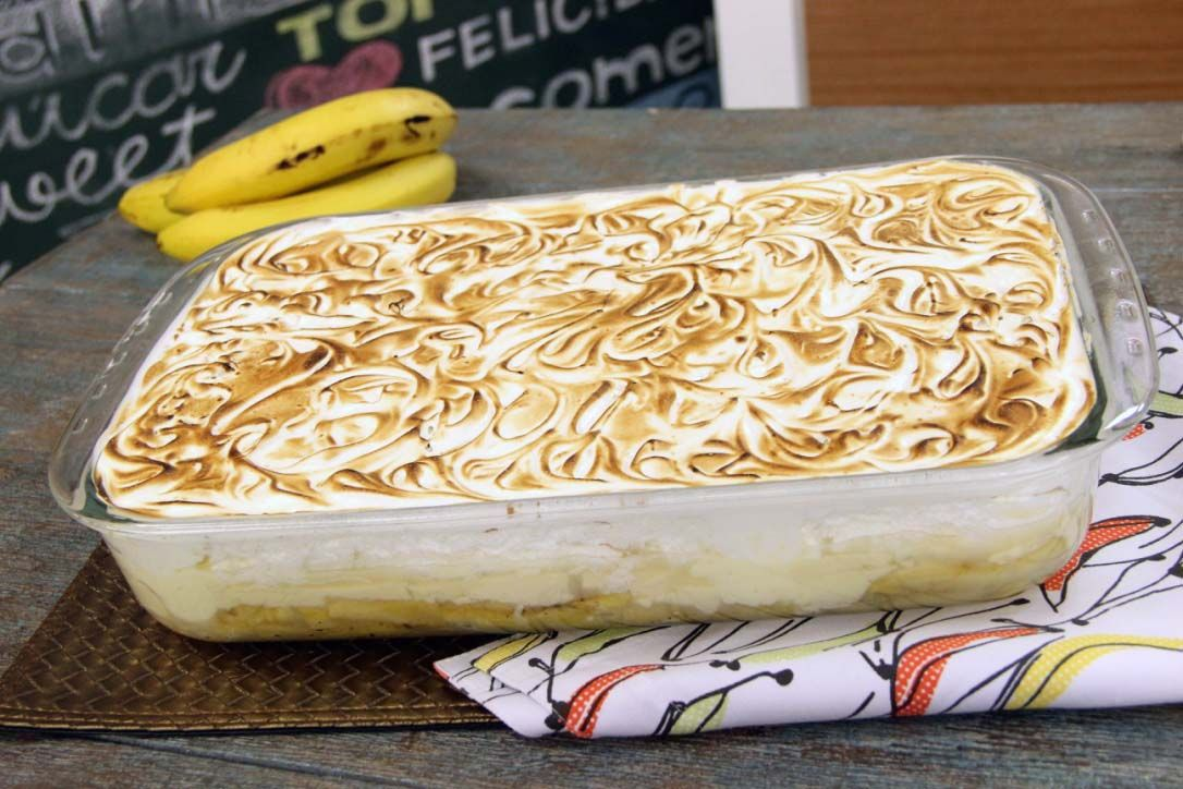 Torta de Banana com Creme