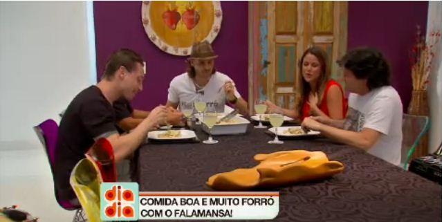 Falamansa participa do Papo de Cozinha com Marina Mantega