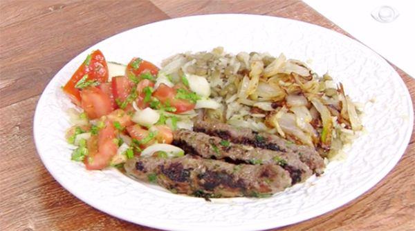 Salada Síria, Arroz com Lentilhas e Kafta