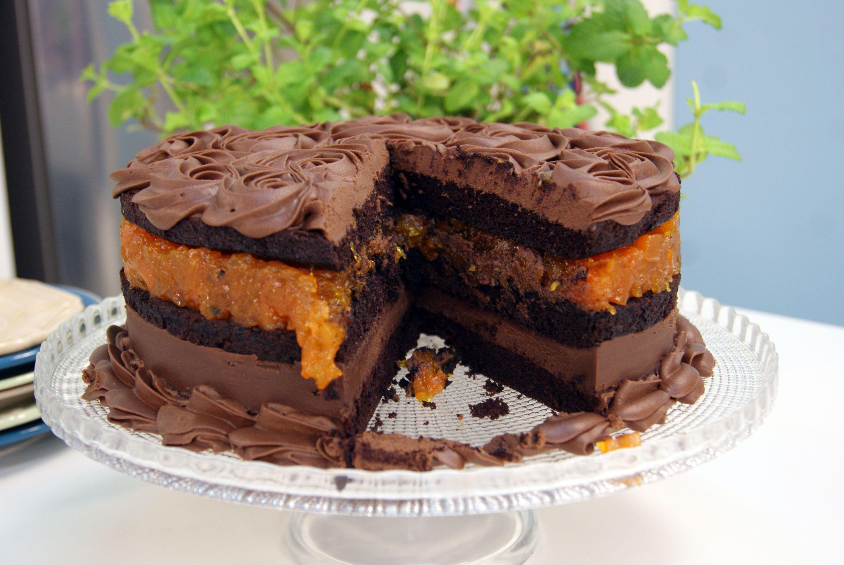 Naked Cake de Chocolate e Especiarias com Doce de Abóbora