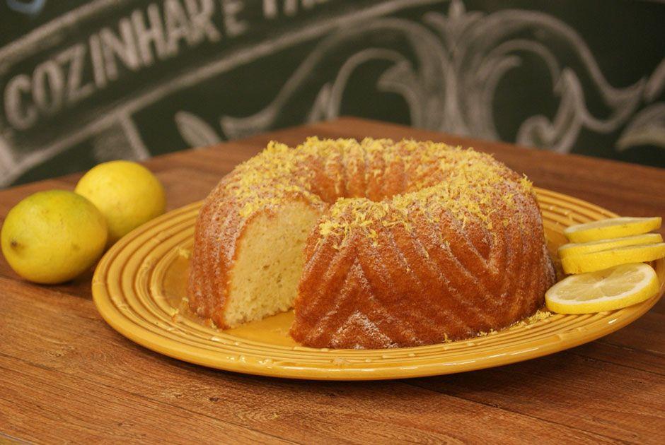 Bolo de Limão-Siciliano Diet e Sem Glúten