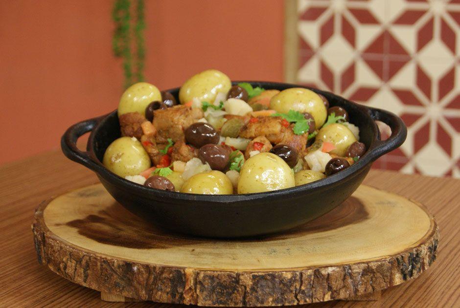 Carne de Porco com Batatas na Frigideira