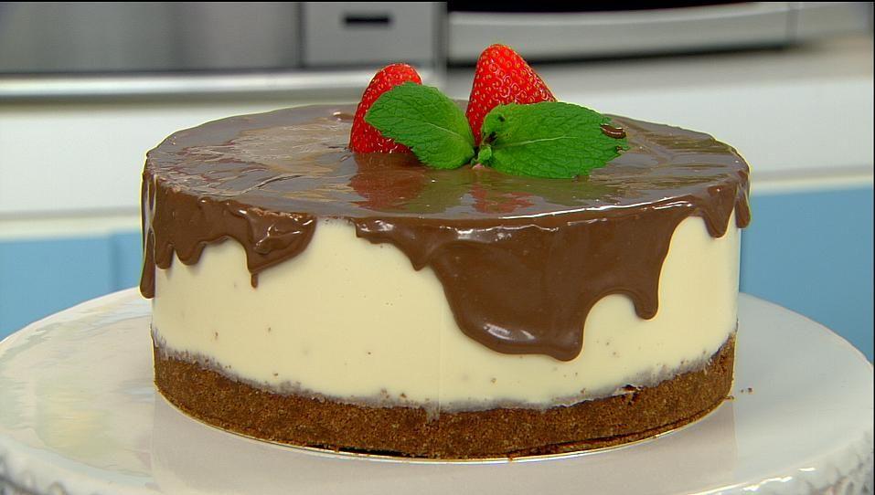 Torta Morango Gelada Torta de Morango Com Chocolate