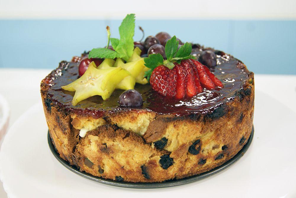 Torta Gelada de Panetone e Frutas