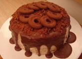 Terrine de Bolacha com calda de Chocolate