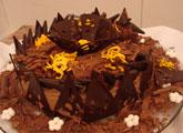 Bolo quindim de chocolate