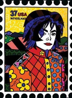 Michael Jackson, desenhado por Romero Brito / Foto: Divulgação