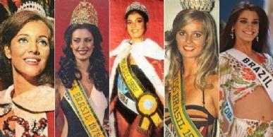 Marta, Adriana,  Celice, Martha e Gislaine, as misses escolhidas por Paulo