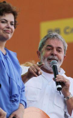 Ao lado de Dilma, Lula diz que povo sabe quem ele quer como sucessor