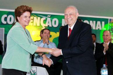 Dilma e Alencar  participam de convenção do PRB em Brasília