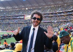 Felipe Andreoli na cobertura da Copa do Mundo 2010, realizada na África do Sul