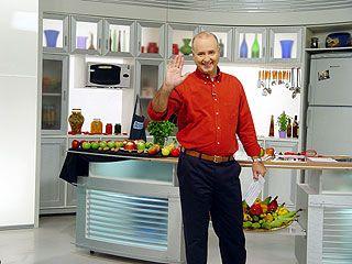 Daniel Bork na cozinha do programa Dia Dia / Foto: Divulgação/Band