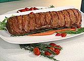 Bolo de carne e bacon