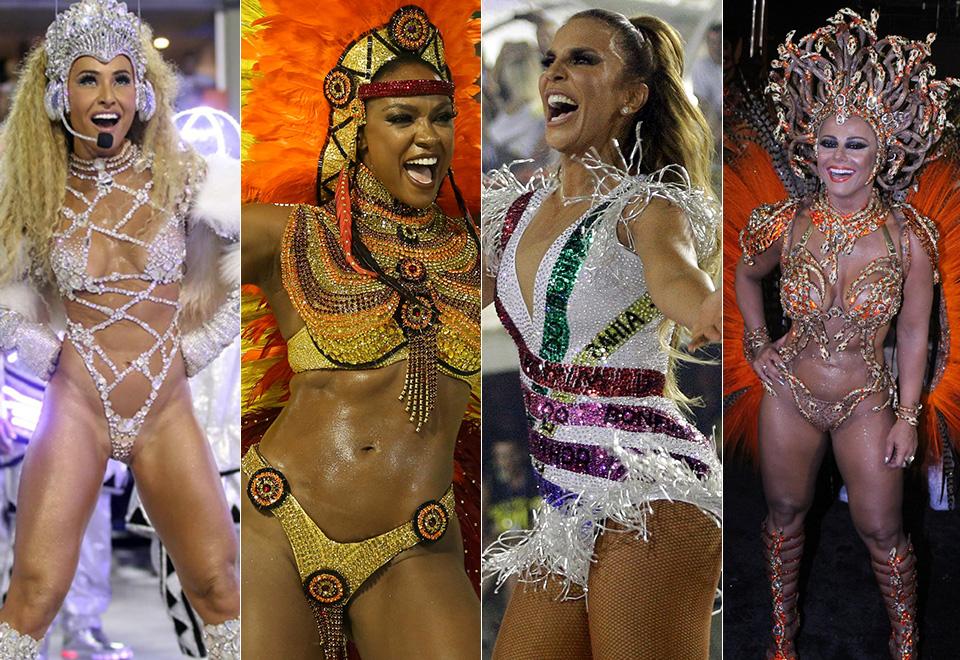 Só deu elas! Na primeira noite de desfiles do RJ, as musas das escolas de samba roubaram a cena na Sapucaí