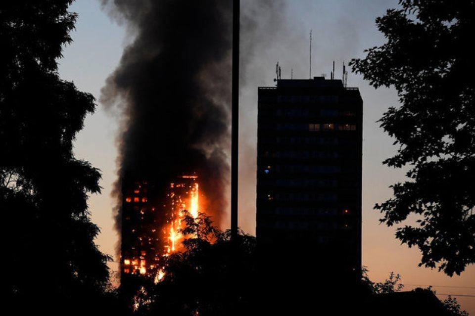 Confira fotos do incêndio em Londres