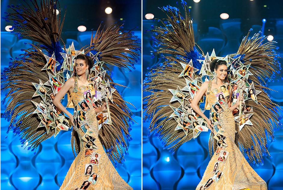Miss Amazonas, Ytala Narjjara, homenagem aos 60 anos do Miss Brasil, traz foto de cada uma das 59 misses e faz lusão a um troféu