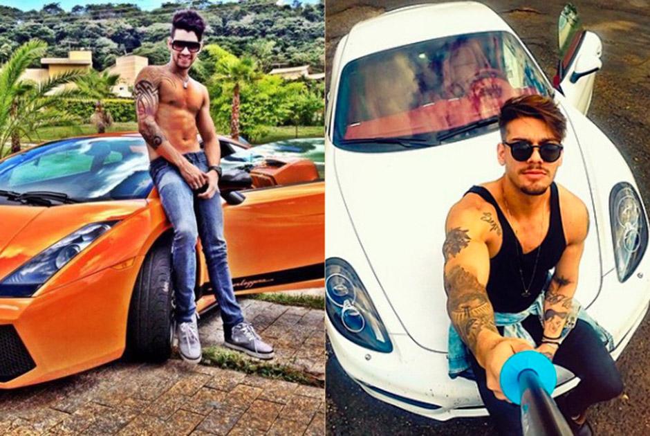 Gusttavo Lima e Lucas Lucco ostentam carrões, jatinhos e viagens nas redes sociais