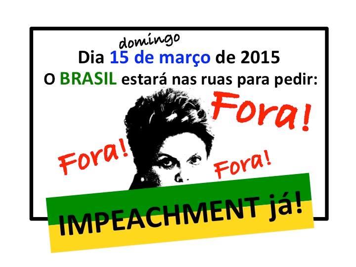 Movimento está marcado para o dia 15 de março na Avenida Paulista