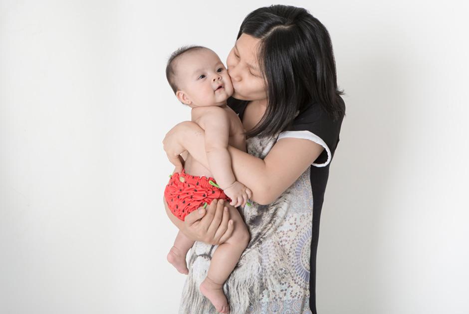 Jiang comemora 100 dias de vida da filha com ensaio