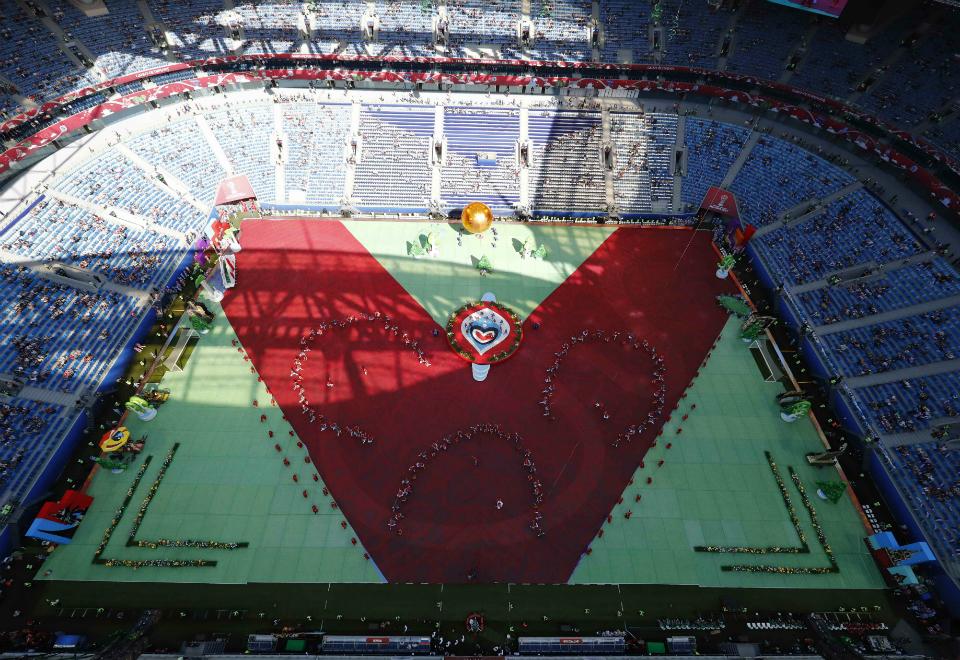 Confira as fotos da abertura da Copa das Confederações