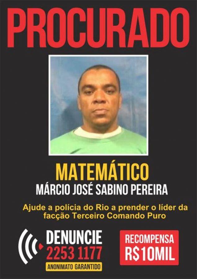 Matemático estava na lista dos procurados do Disque-Denúncia do RJ / Divulgação/Disque Denúncia