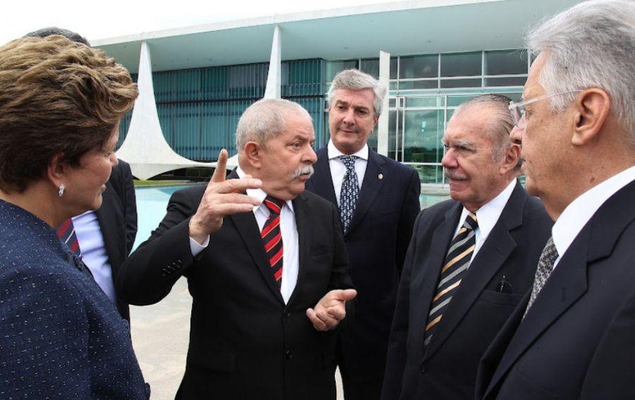 Ex-presidentes, ao lado de Dilma, conversam no DF / Ricardo Stuckert/Insituto Lula