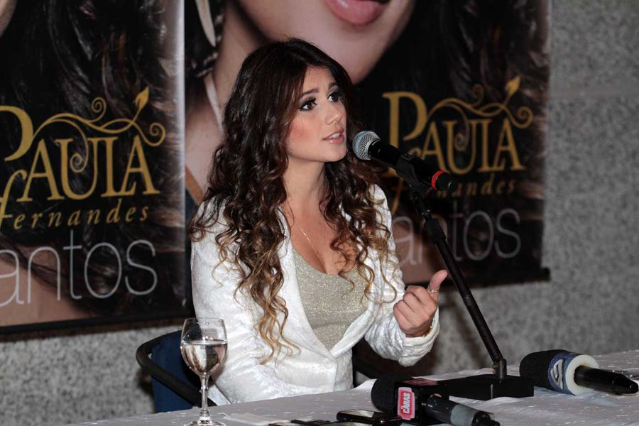 Paula Fernandes conversa com a imprensa / Orlando Oliveira/AgNews