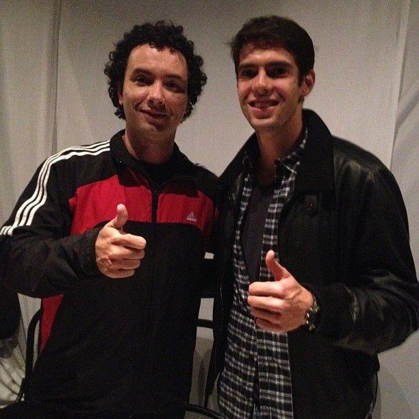 Marco Luque e Kaká nos bastidores do Labutaria / Divulgação/Twitter