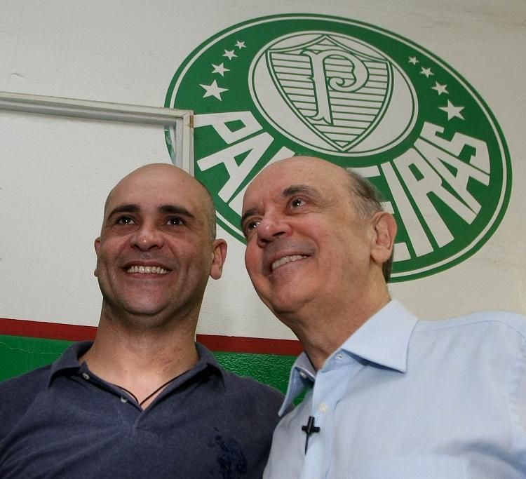 Marcos encontra Serra na Arena Palestra / Cesar Greco/AE