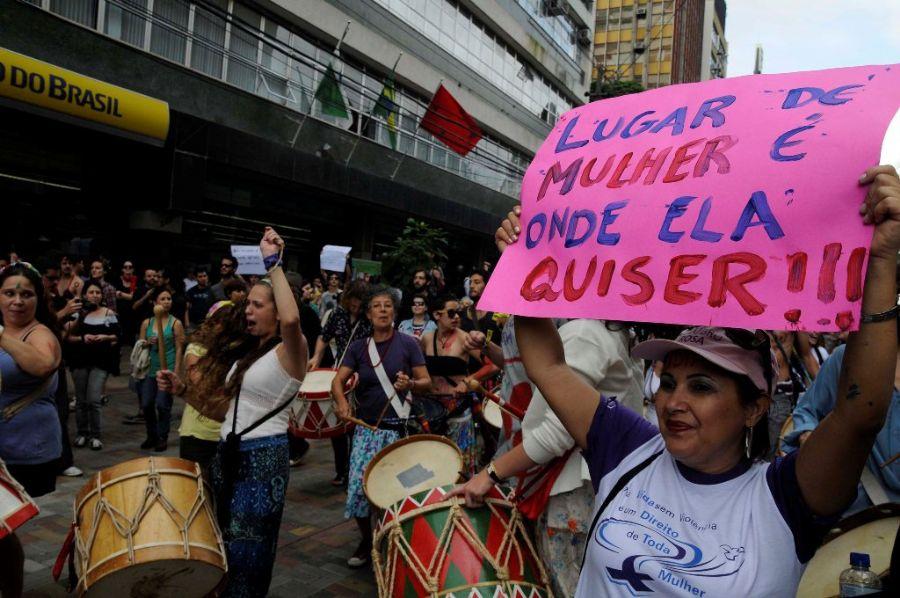 Mulheres protestaram contra o machismo e violência contra a mulher  / Anderson Coelho/Futura Press