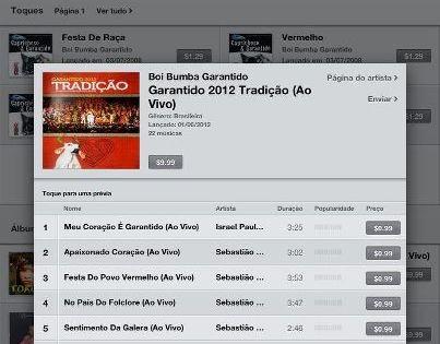 Garantido lança toadas na loja virtual iTunes