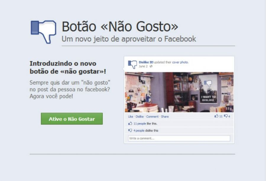 f 105969 Botão Dislike no Facebook é falso