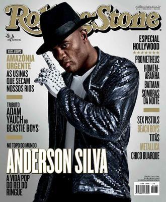 Anderson Silva na Rolling Stones deste mês / Divulgação
